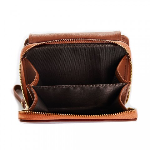 Tri-fold Leather Wallet Purse
