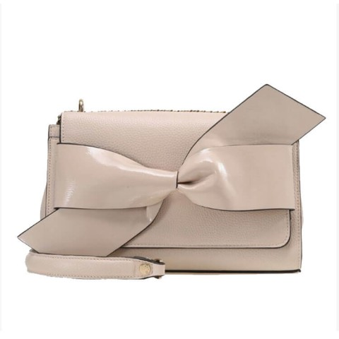 Big Bow leather crossbody purse