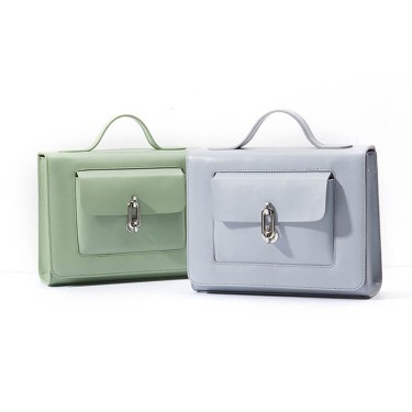 Lightcolor Leather Suitcase Satchel for Summer