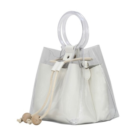 Custom PVC Medium Bucket Cross Body Single Shoulder Bag