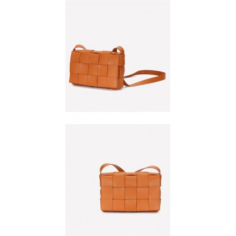 Weaving genuine Leather shoulder bag /sling bags