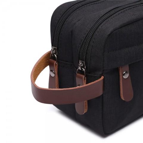 Custom PU leather toiletry bag/makeup bags for men/women