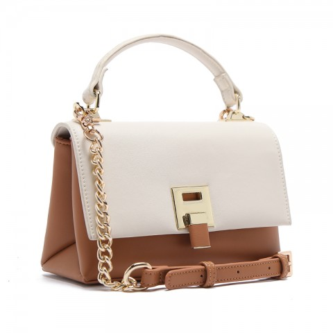 Tri-color Leather Crossbody Bags