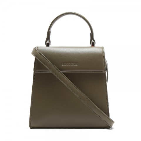 Lovely Smooth Leather Shoulder Bag for Commute
