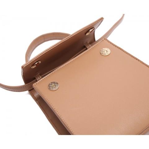 Lovely Smooth Leather Shoulder Bag for Commute