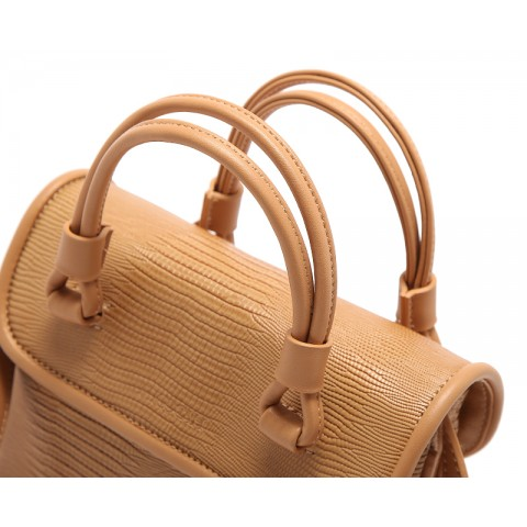 Stone-grain Leather Convertible Tote Handbags
