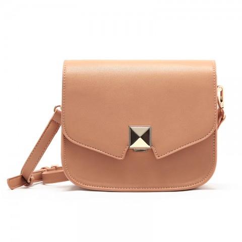 Geometric Flap Leather Shoulder