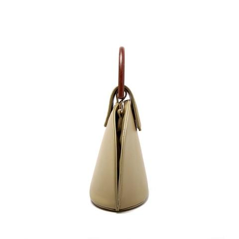 Bamboo Handle Shell Tote Bag