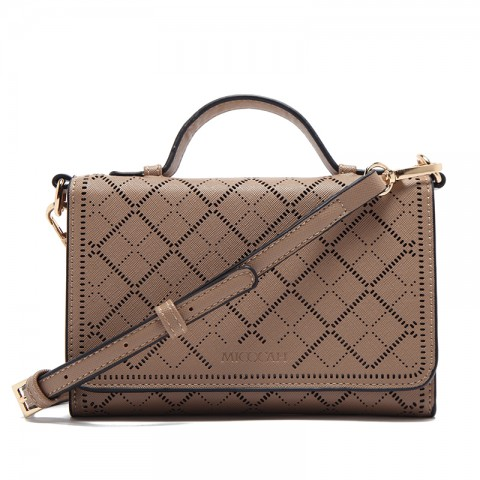 Luxury Hollow Out Leather Tote Handbags