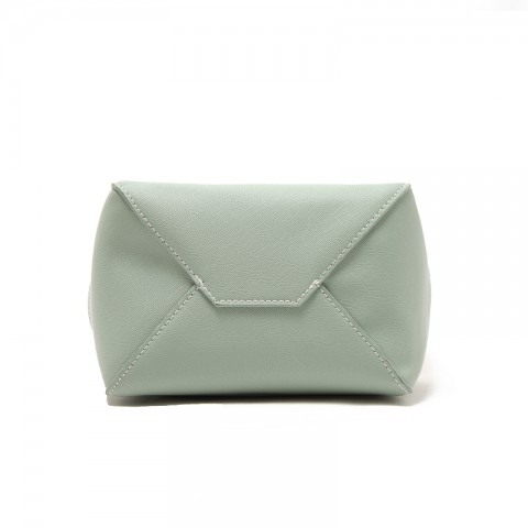 Medium Tri-color White Bucket Shoulder Bag
