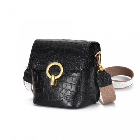 crocodile leather crossbody bags with adjustable shoulder strap