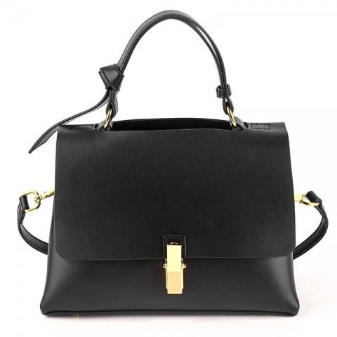 Custom black top grain calf leather crossbody bags for commute