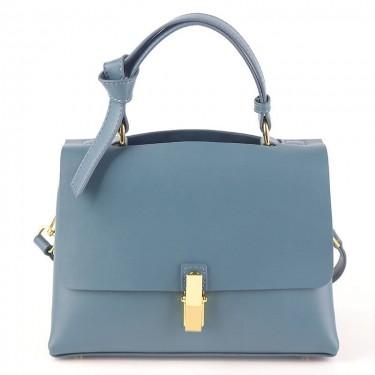 Calf leather crossbody light blue shoulder bags