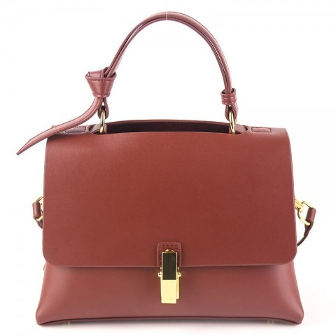 Calf leather crossbody red shoulder bags