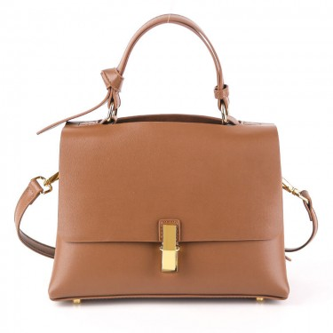 Calf leather crossbody brown shoulder bags