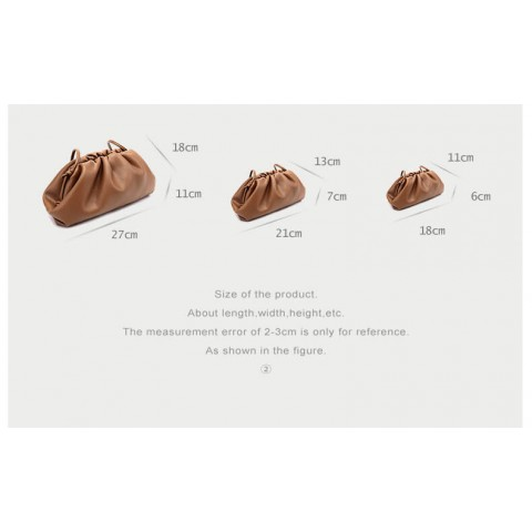 Mini corrected leather crossbody soft shoulder bags